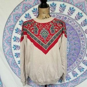 vintage bandana sweatshirt